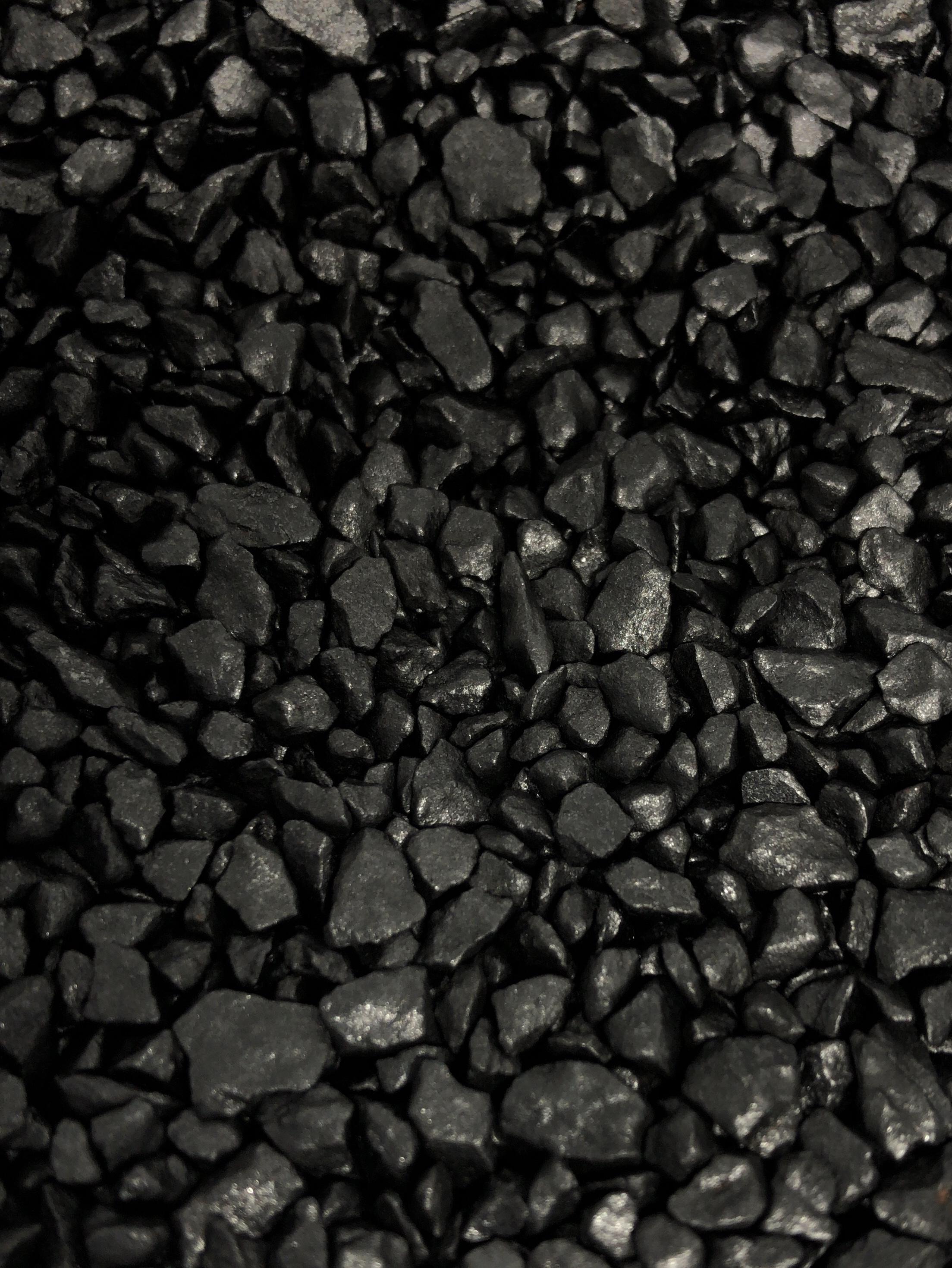 瓦化粧石 黒銀1L
