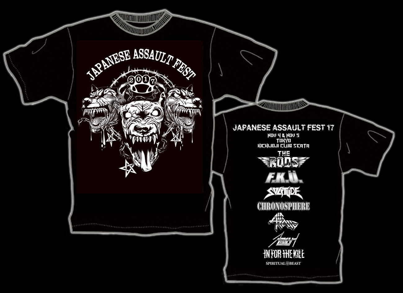 JAPANESE ASSAULT FEST 17 限定Tシャツ