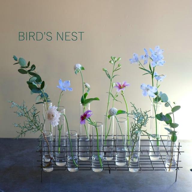 BIRD'S NEST glass test tube vase(L)