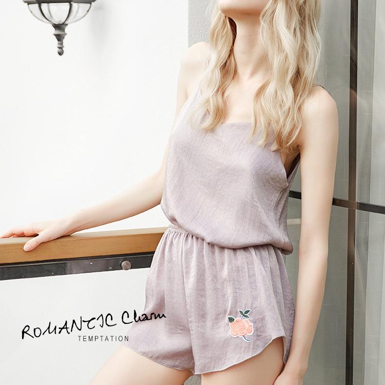 【ルームウェア・パジャマ】セクシー刺繍上下セットパジャマ19523299