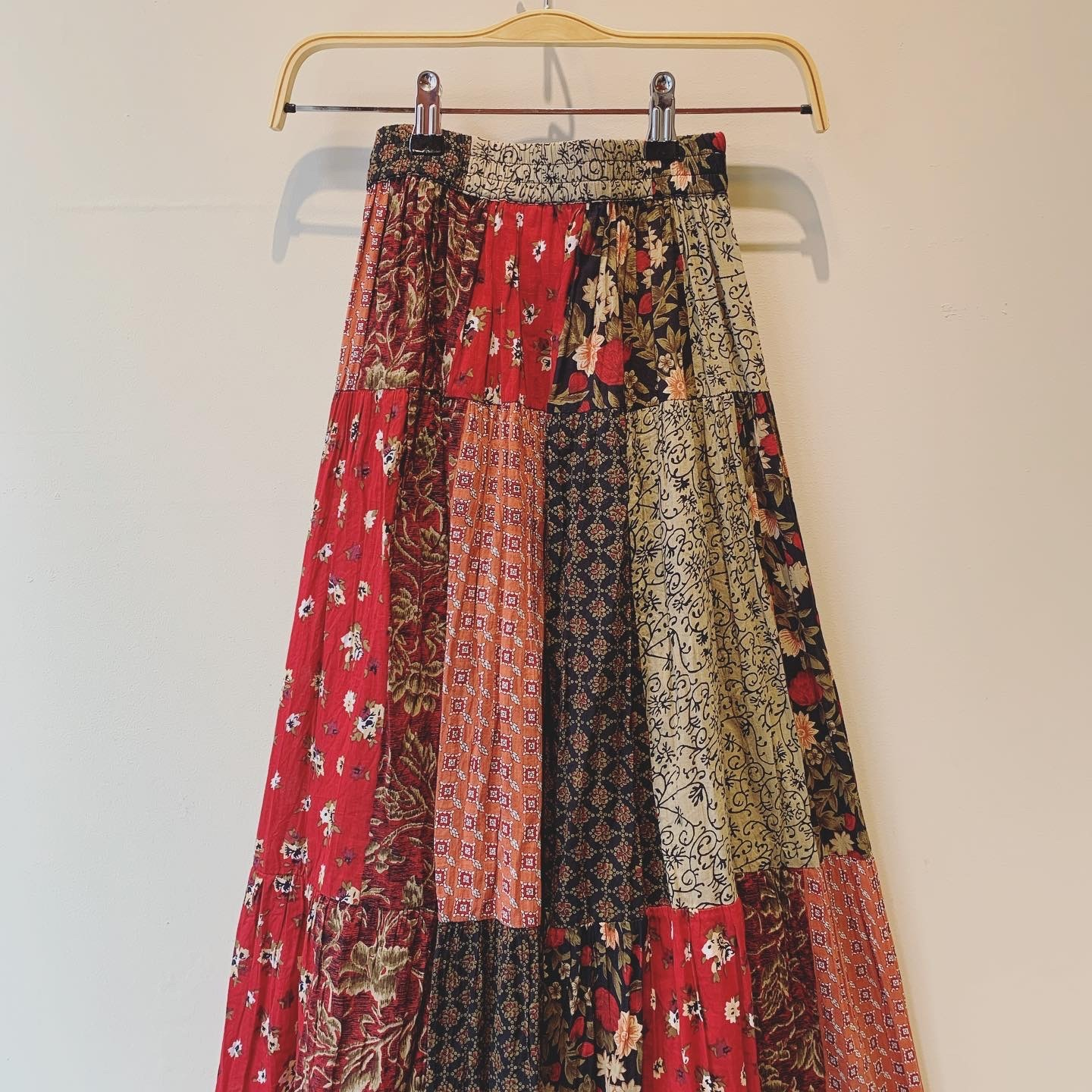 vintage Indian cotton patchwork skirt