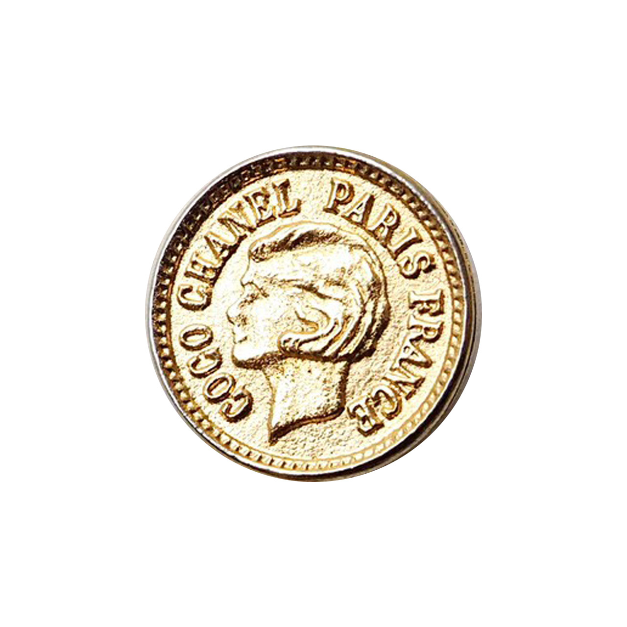 【VINTAGE CHANEL BUTTON】ゴールド コイン ココ・シャネル ボタン 18mm
