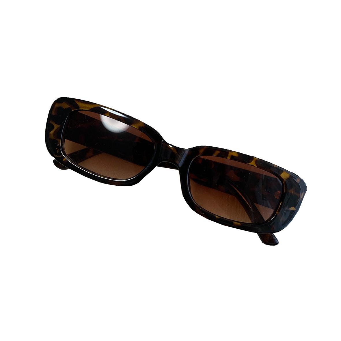 【Select】Square Leopard Sun Glasses