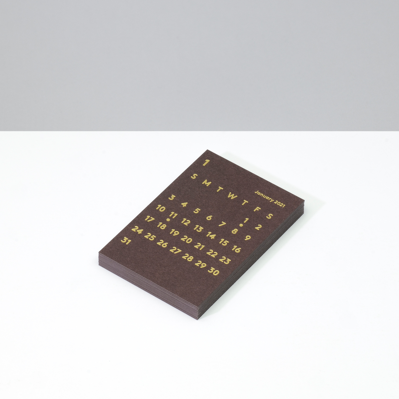 'CLARA' Calendar Refill 2021 Brown