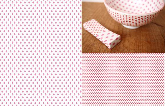 SIZUKU ピンク&レッド A3(ポーセリンアート転写紙)
