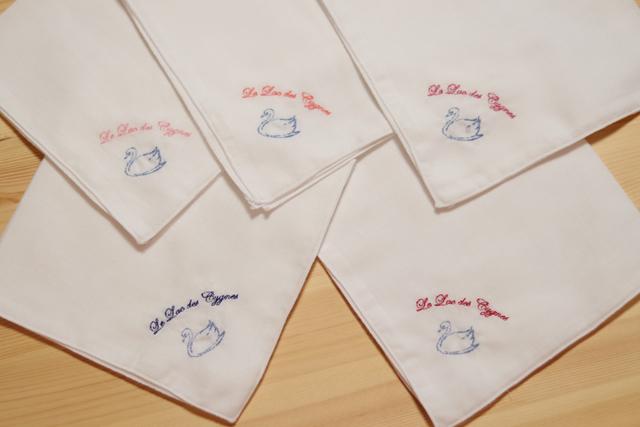 オリジナル刺繍ガーゼハンカチ大判タイプ