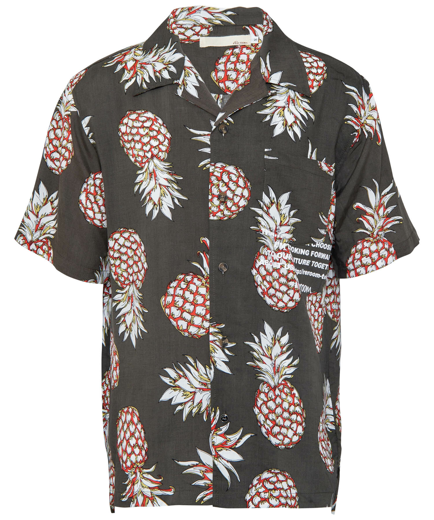 PINEAPPLE OPEN COLLAR PRINT SHIRTS[RES036]