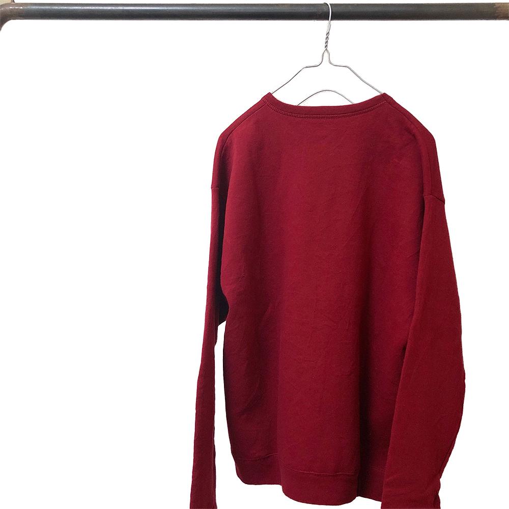 SKGK スウェットシャツ 赤×白
