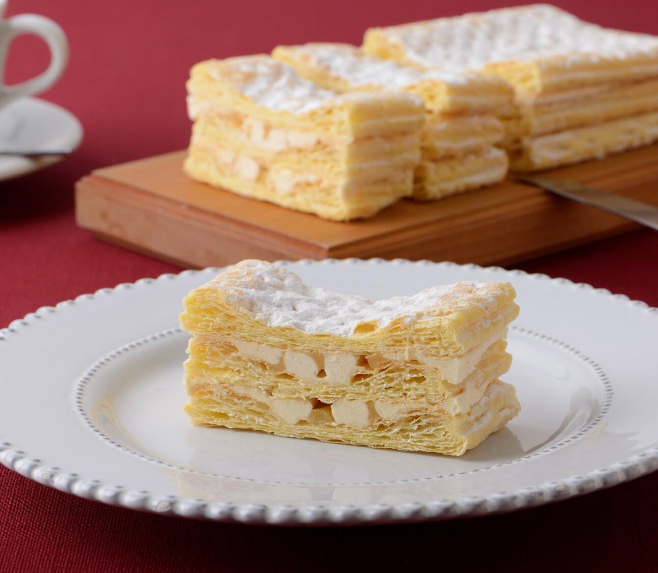 【サクサク食感のパイ生地と濃厚チーズクリーム】六本木チーズミルフィーユ 1本入