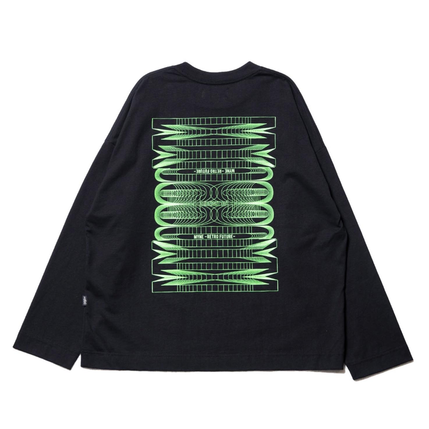 Neon MYne L/S T-shirt / BLACK - 画像2