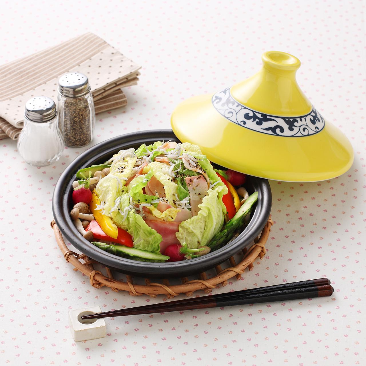 ヘルシータジン鍋 (黄唐草) 40-001-A