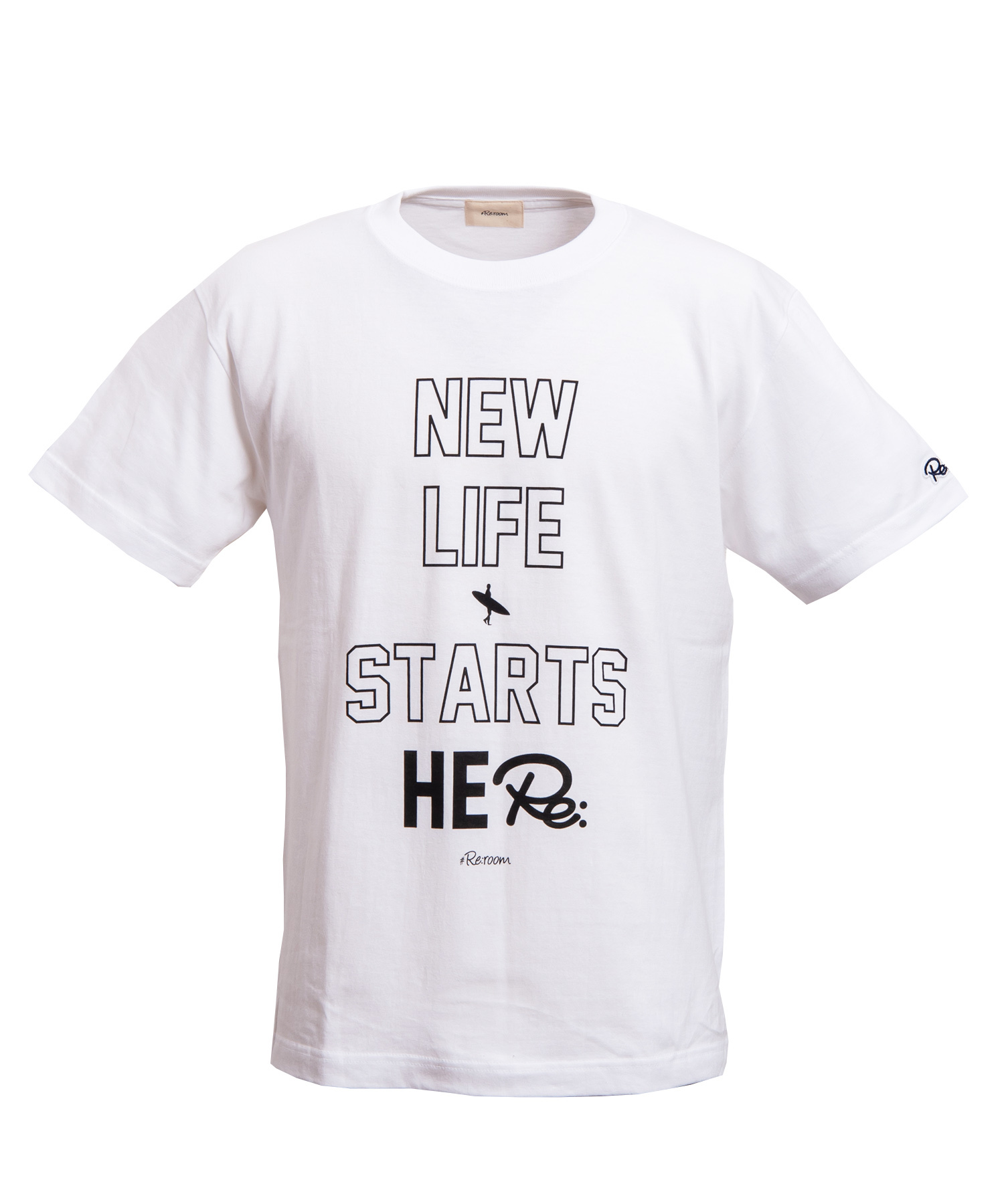 NEW LIFE MESSAGE BIG PRINT T-shirt[REC215]