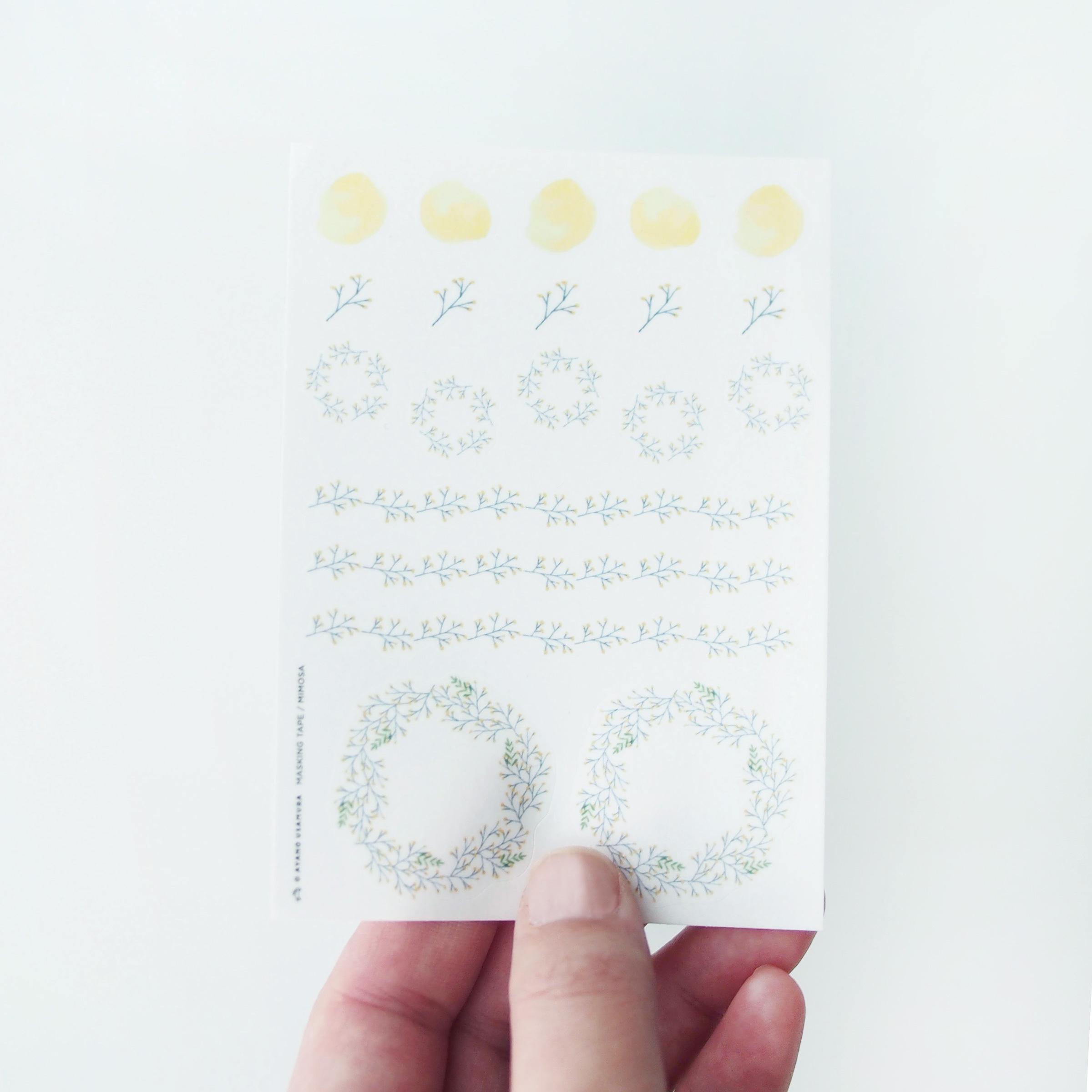 手帳用マステシート|春のミモザ