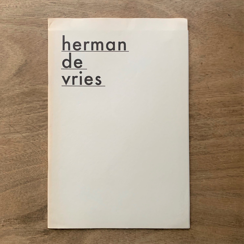 herman de vries  / ヘルマン・デ・フリース