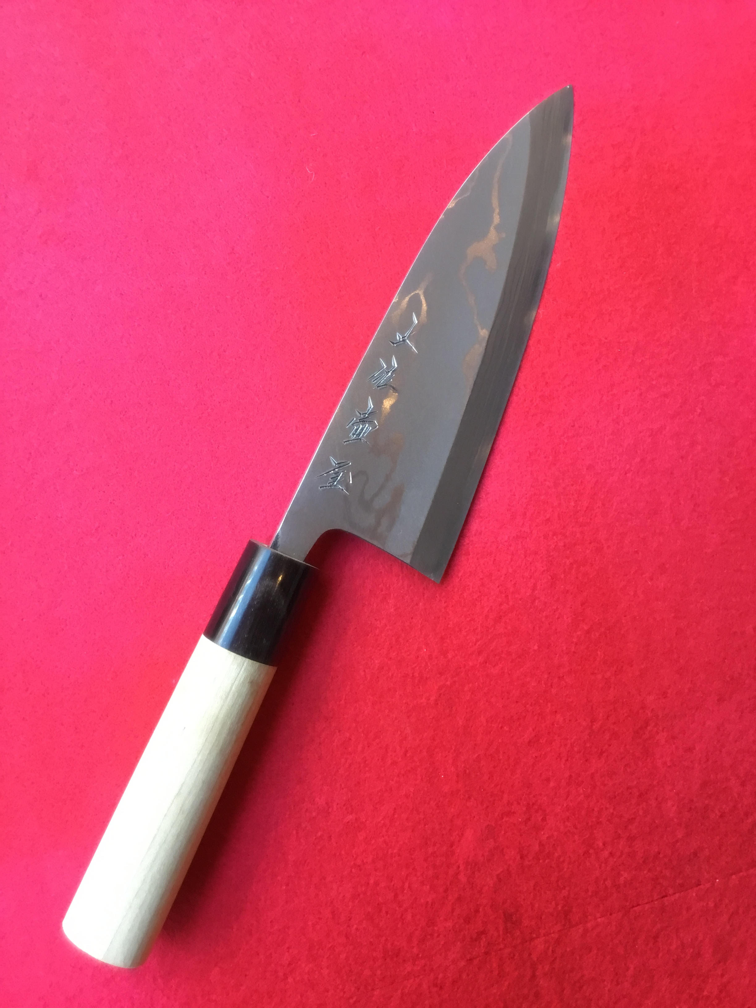 出刃包丁 多層鋼 5、5寸(安来青紙・片刃)