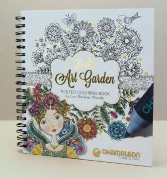 Chameleon Pen Lori's Art Garden Poster Coloring Book (カメレオンペン ロリズアートガーデン カラーリングブック)