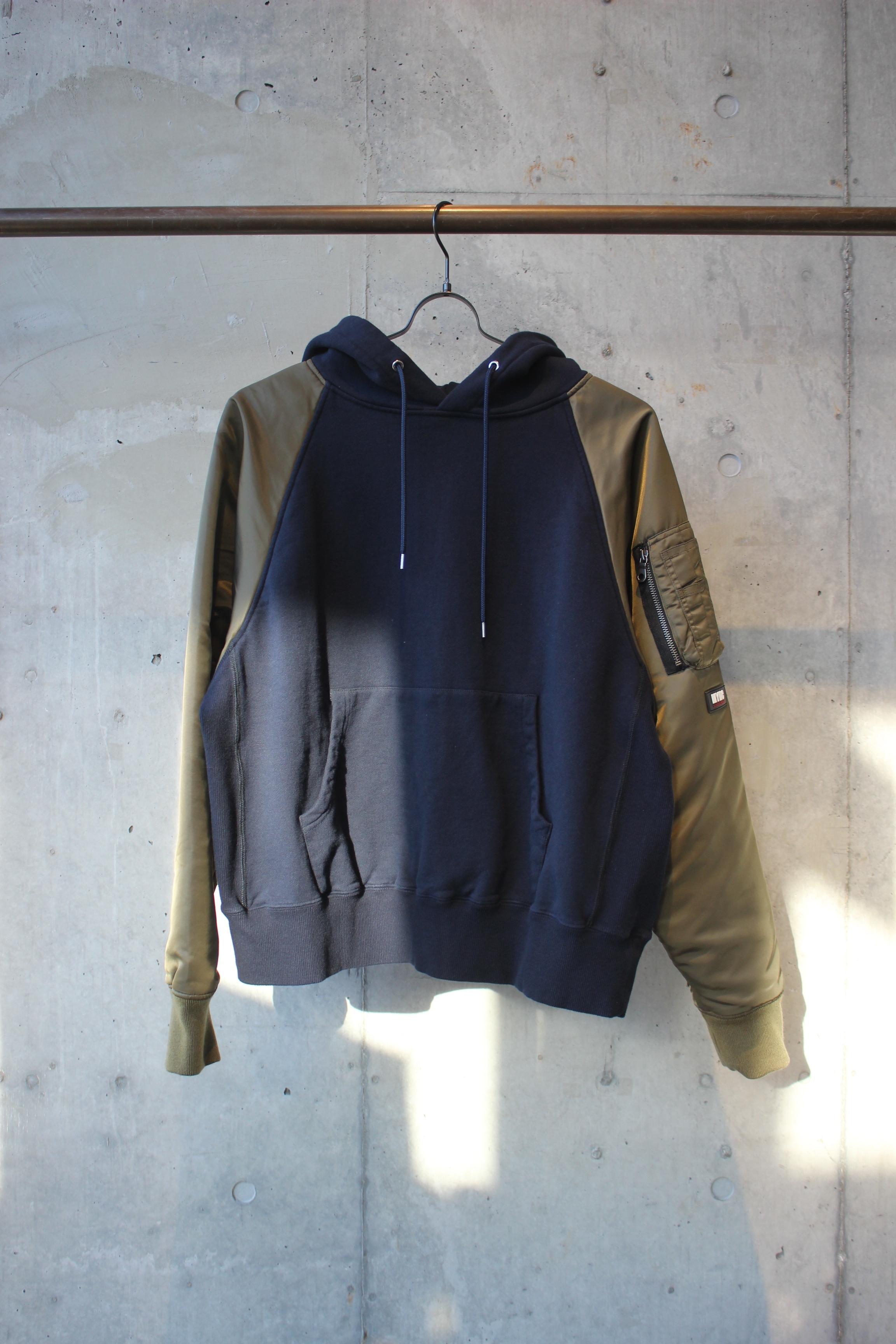 MA-1 hoodie / NAVY - 画像1