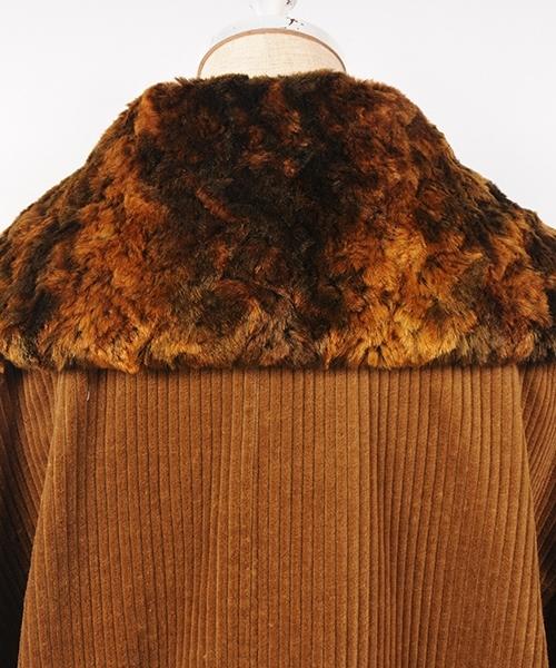 hs17AW-IR07 fake fur coat (brown)