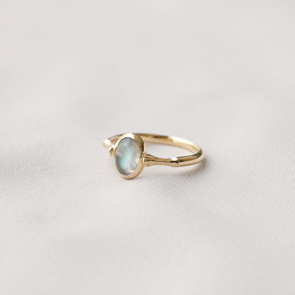 花テーブル ring - ラブラドライト (gold)