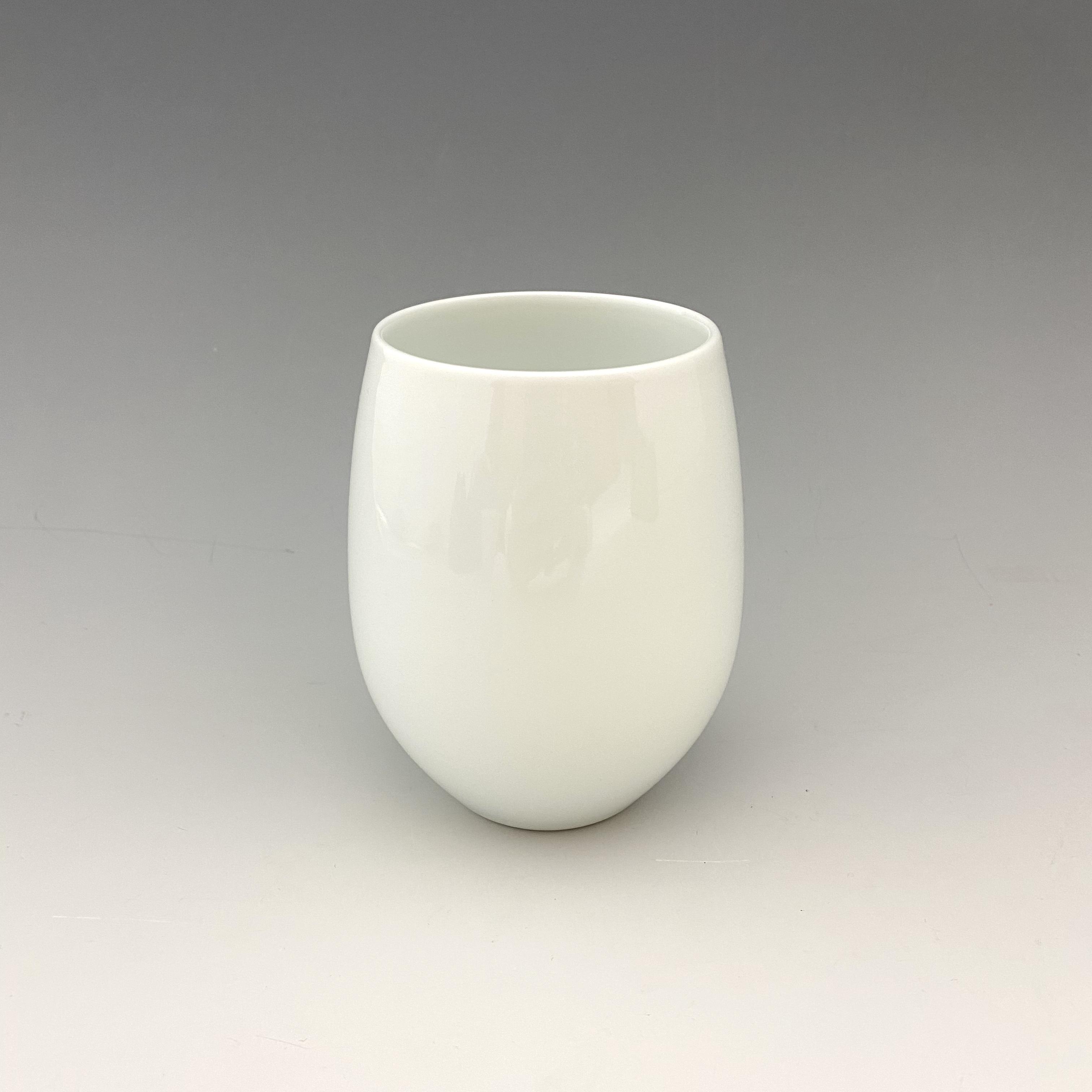 【中尾純】白磁ワインカップ