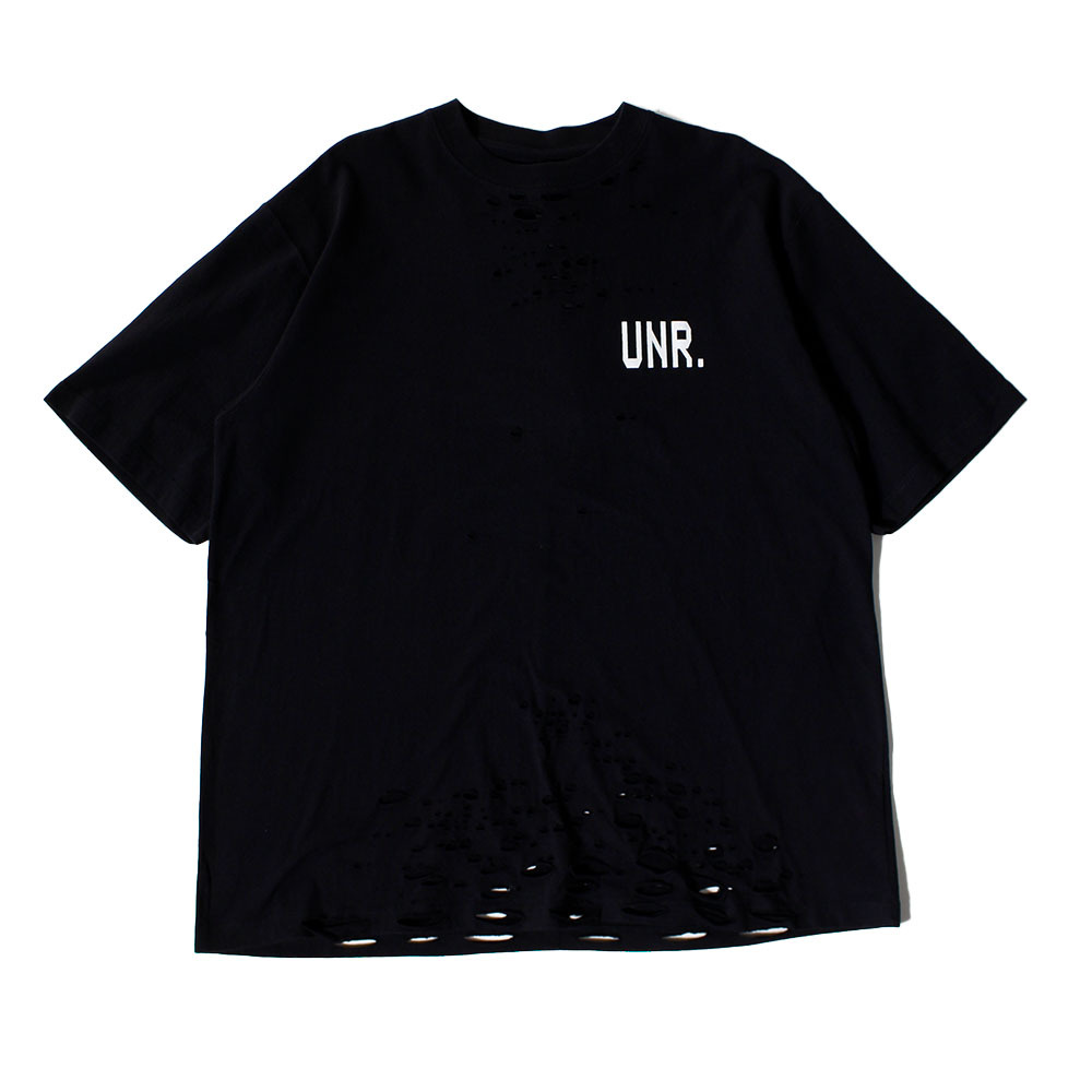 UNRAVEL Black Destroy Tee