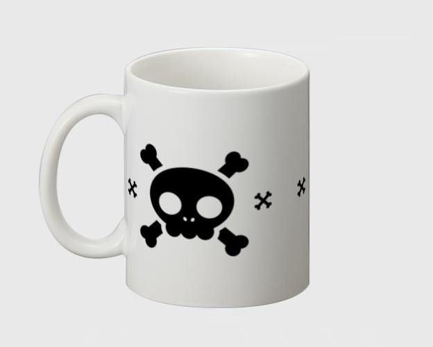 「キュートスカル」マグカップ