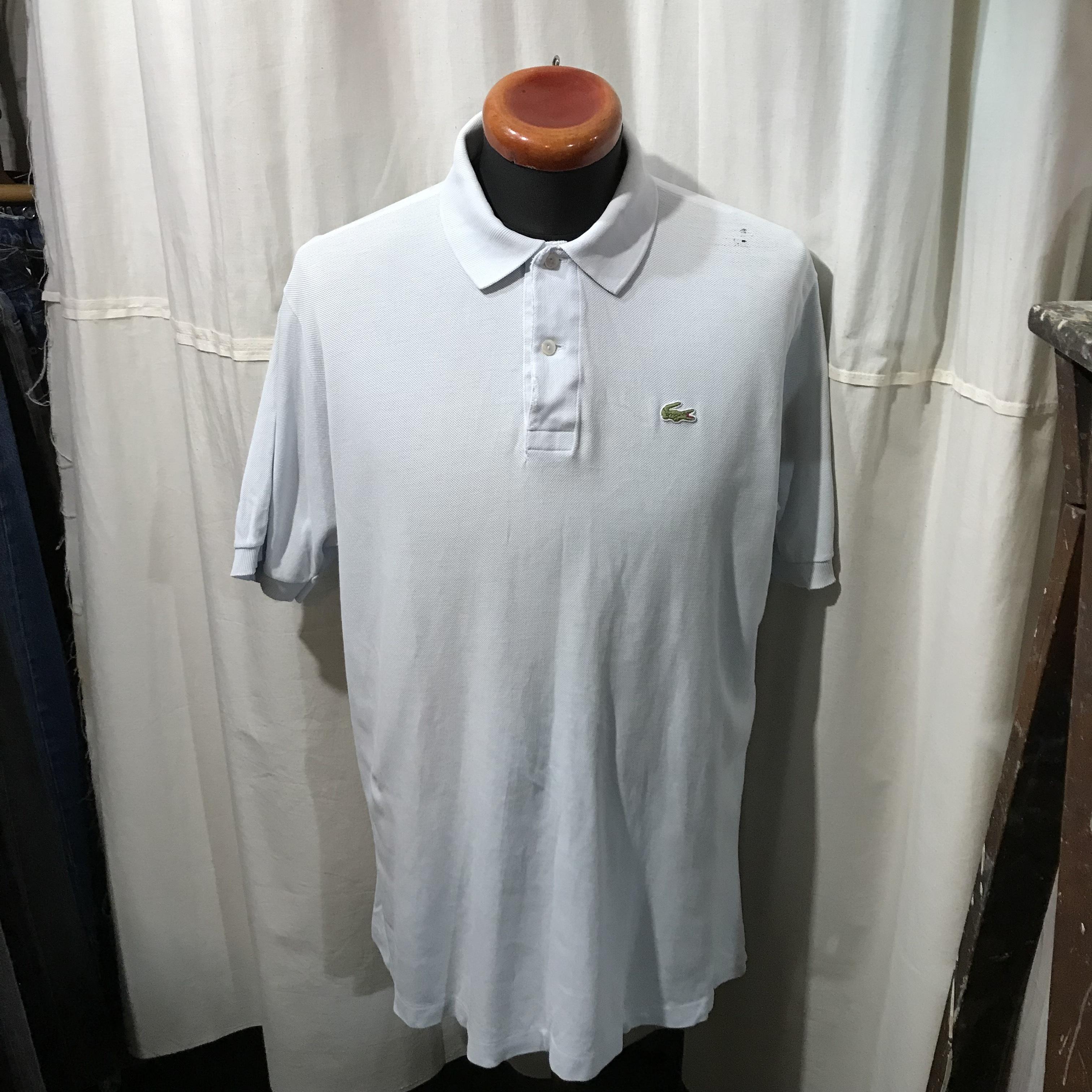 70's~80's vntage フランス製 LACOSTE ポロシャツ フレンチラコ メンズL~XL