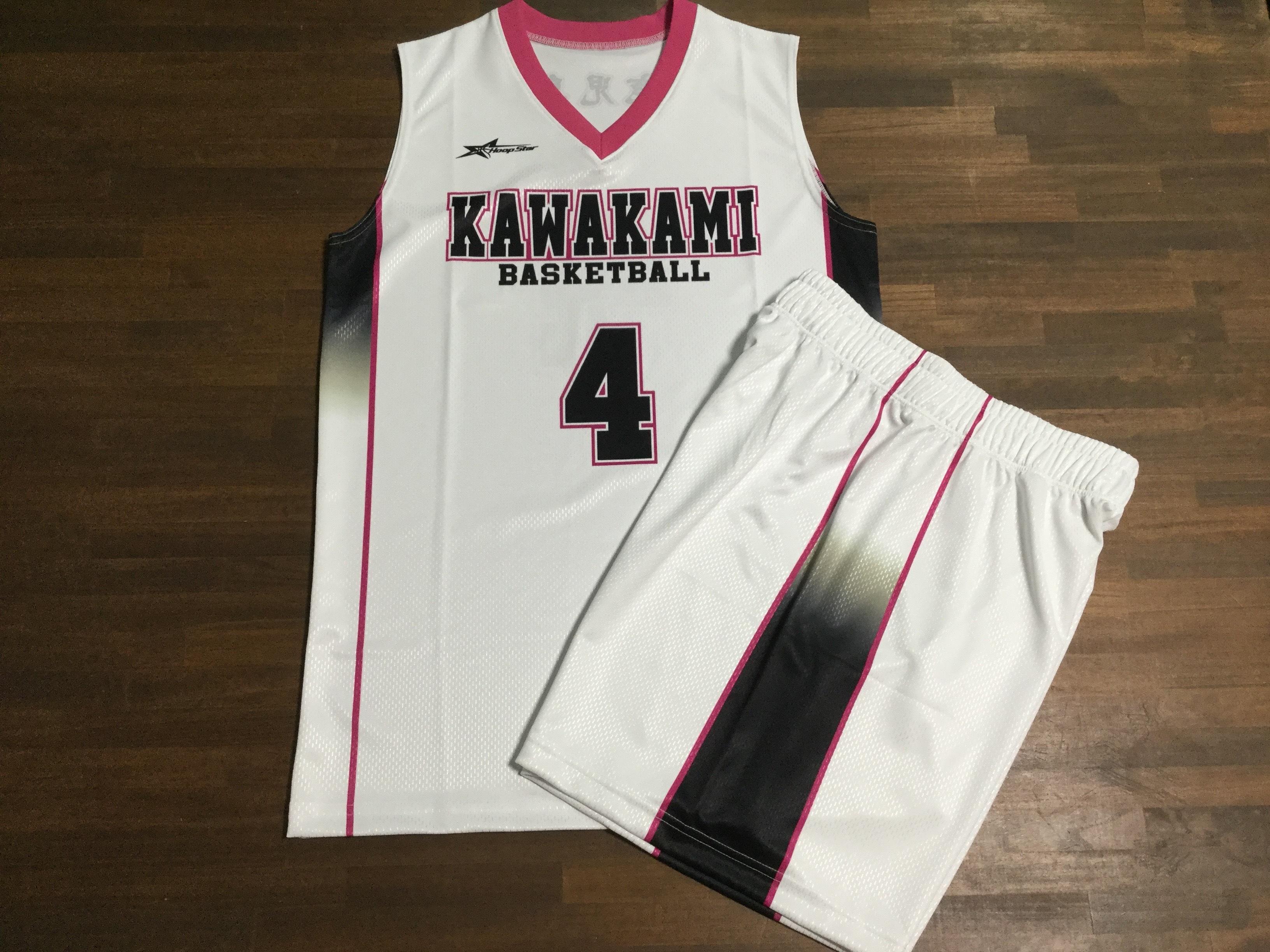 【デザインサンプル】川上ミニバスケットボールスポーツ少年団(U12・女子)昇華ユニフォーム