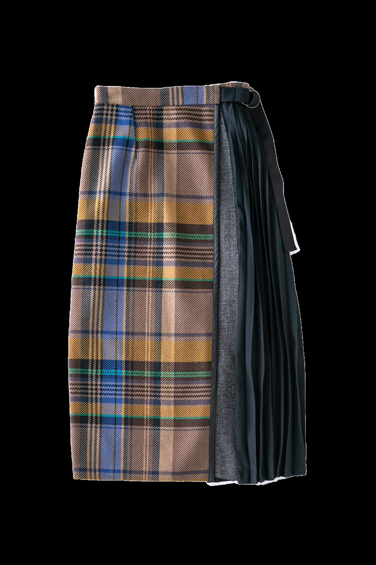ドッキングスカート<イエローチェック>