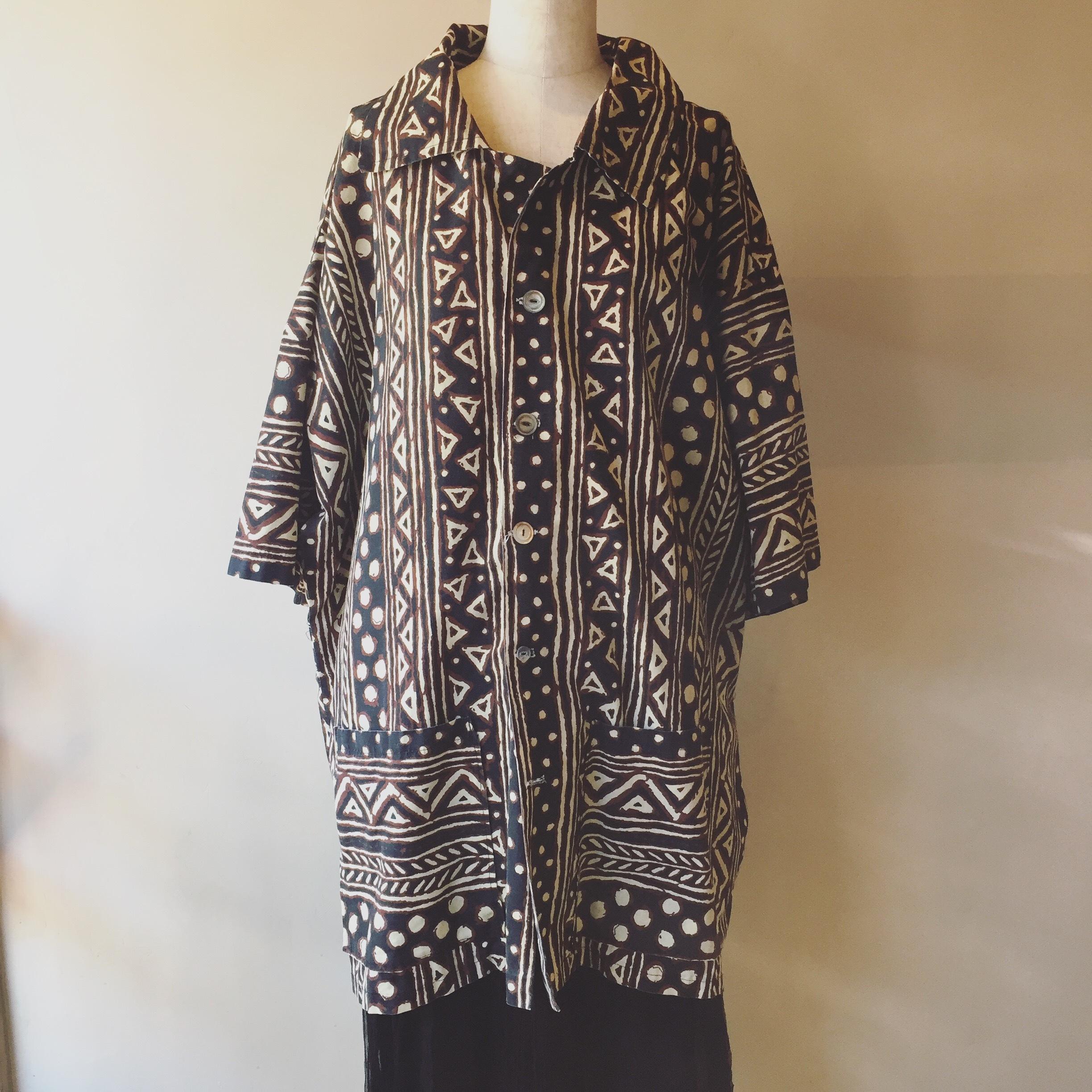 vintage over sized batik shirts