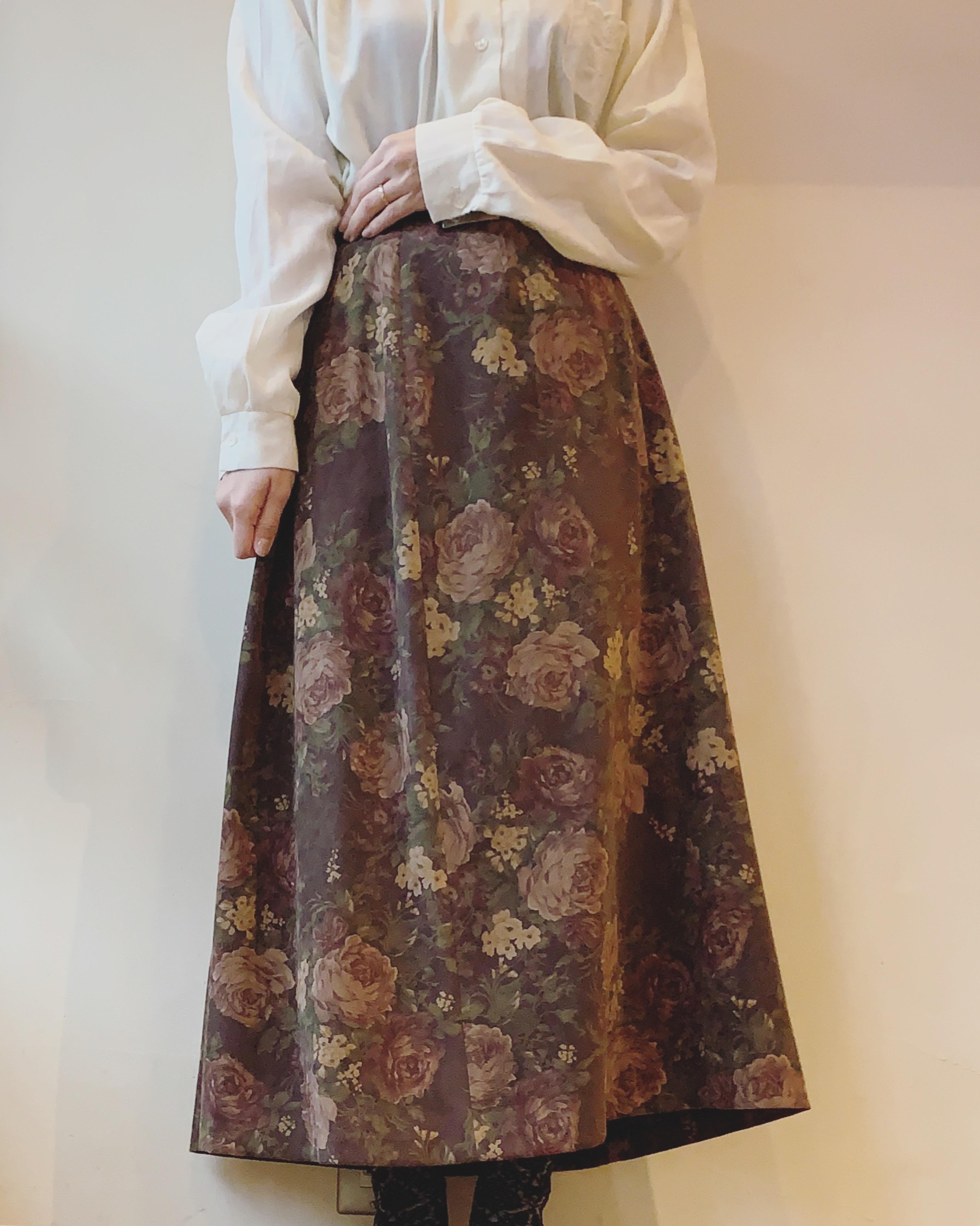 【SALE】vintage flower design skirt