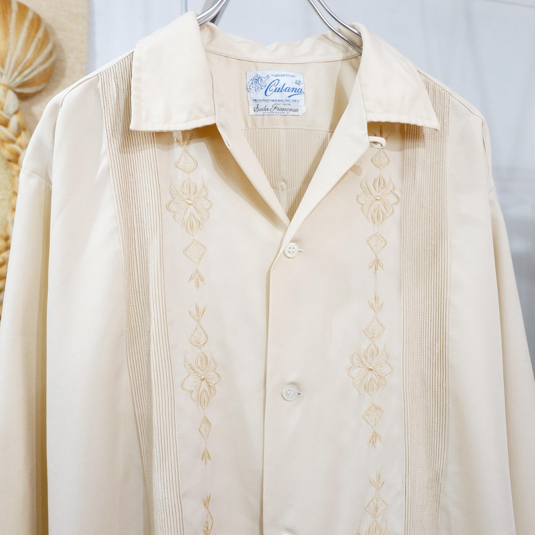 アメリカ古着 1970s vintage L/S キューバシャツ