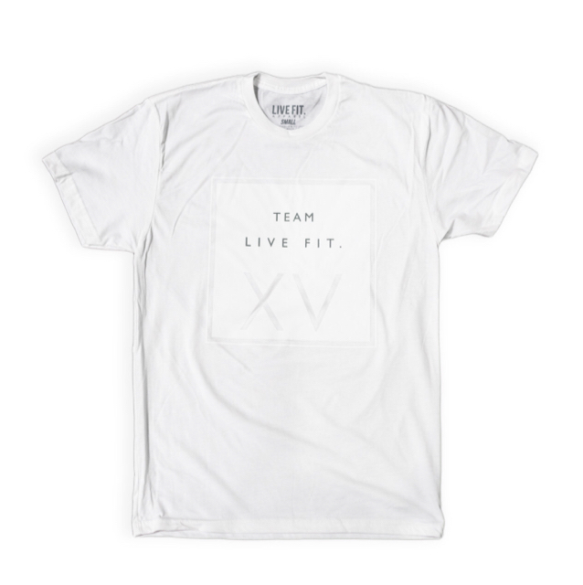 LIVE FIT XV Tee - White