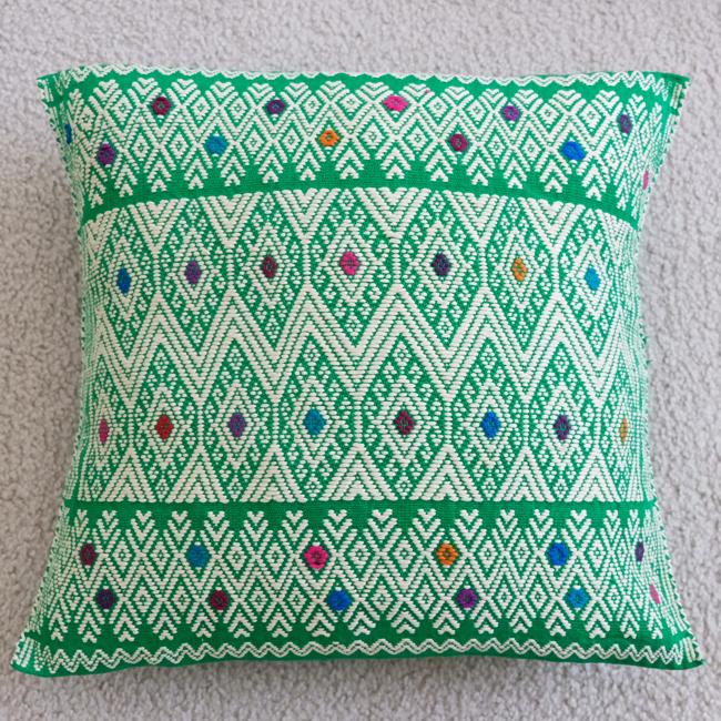ララインサールの手織りクッションカバー /215d/ MEXICO メキシコ