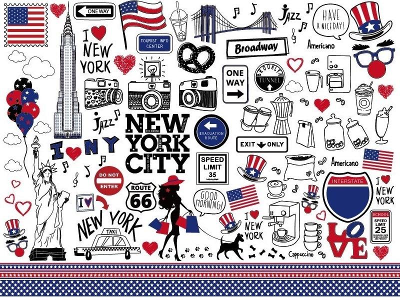NEW YORK転写紙