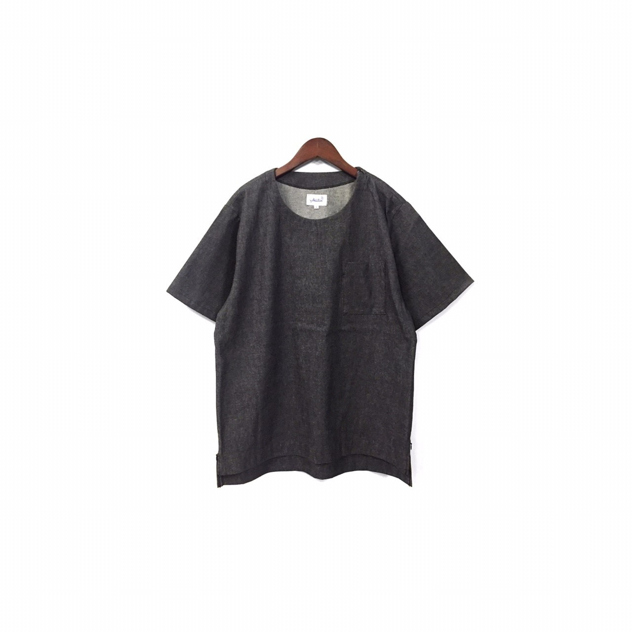 yotsuba - Shortsleeve Denim Tops / Black ¥13000+ta