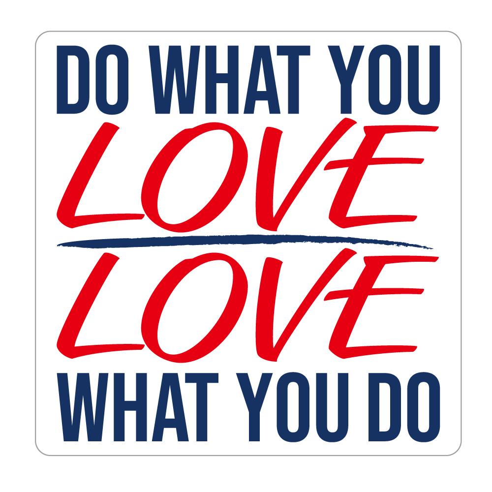 "302  DO WHAT YOU LOVE/ LOVE WHAT YOU DO  ""California Market Center"" アメリカンステッカー スーツケース シール"