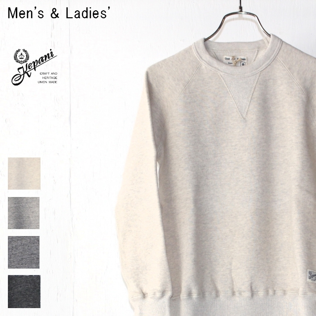 Kepani スウェットクルー Harris-Ⅱ TS8301MS (OATMEAL) 【Men's / Ladies'】