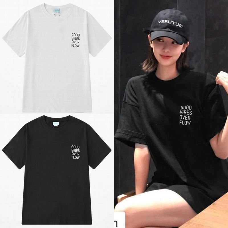 ユニセックス 半袖 Tシャツ メンズ レディース シンプル 英字 ワンポイント プリント オーバーサイズ 大きいサイズ ルーズ ストリート