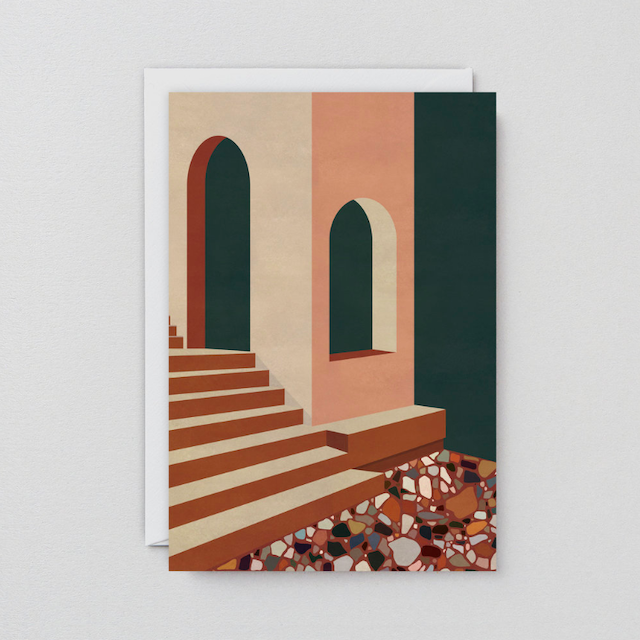 WRAP / TERRACOTTA TERRAZZO ART CARD -Artwork by Charlotte Taylor- アートカード
