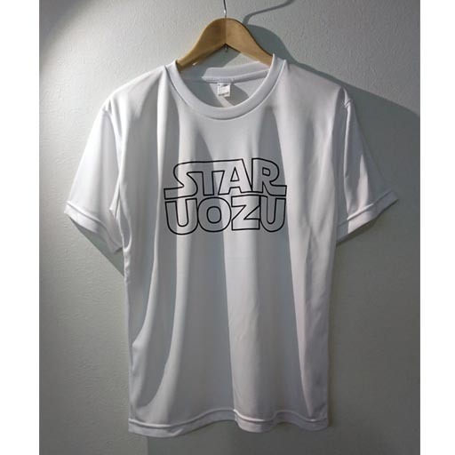 """STAR UOZU """"ドライ"""" Tシャツ ホワイト×ブラック"""