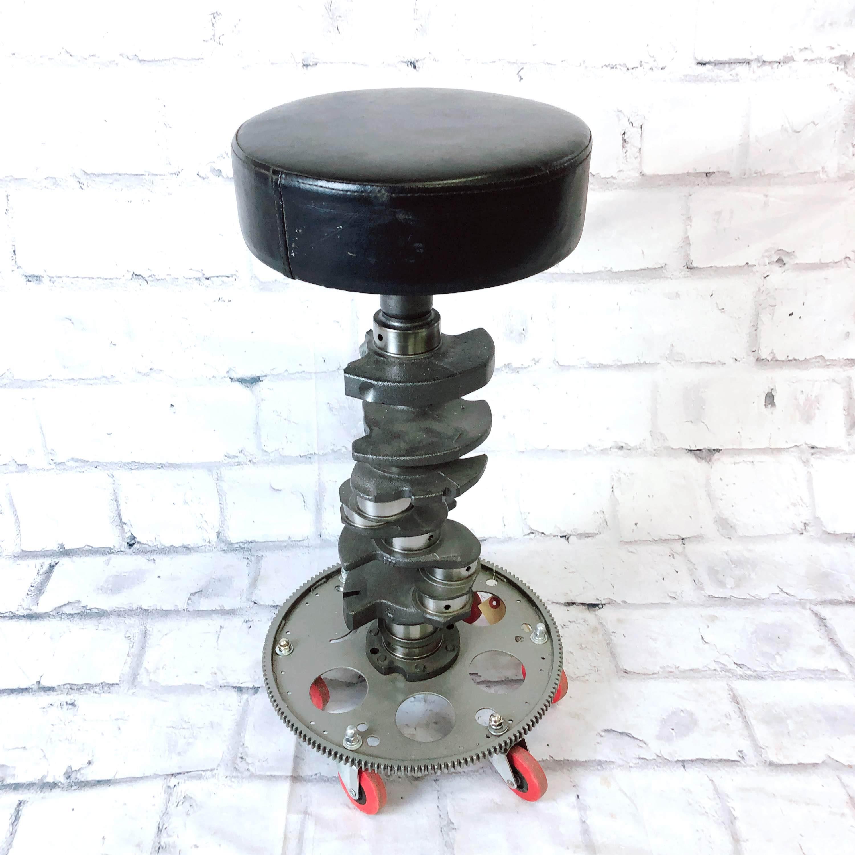 品番1430 創作スツール 78年代ポンティアック フアイヤーバード クランクシャフト 椅子 インテリア アンティーク