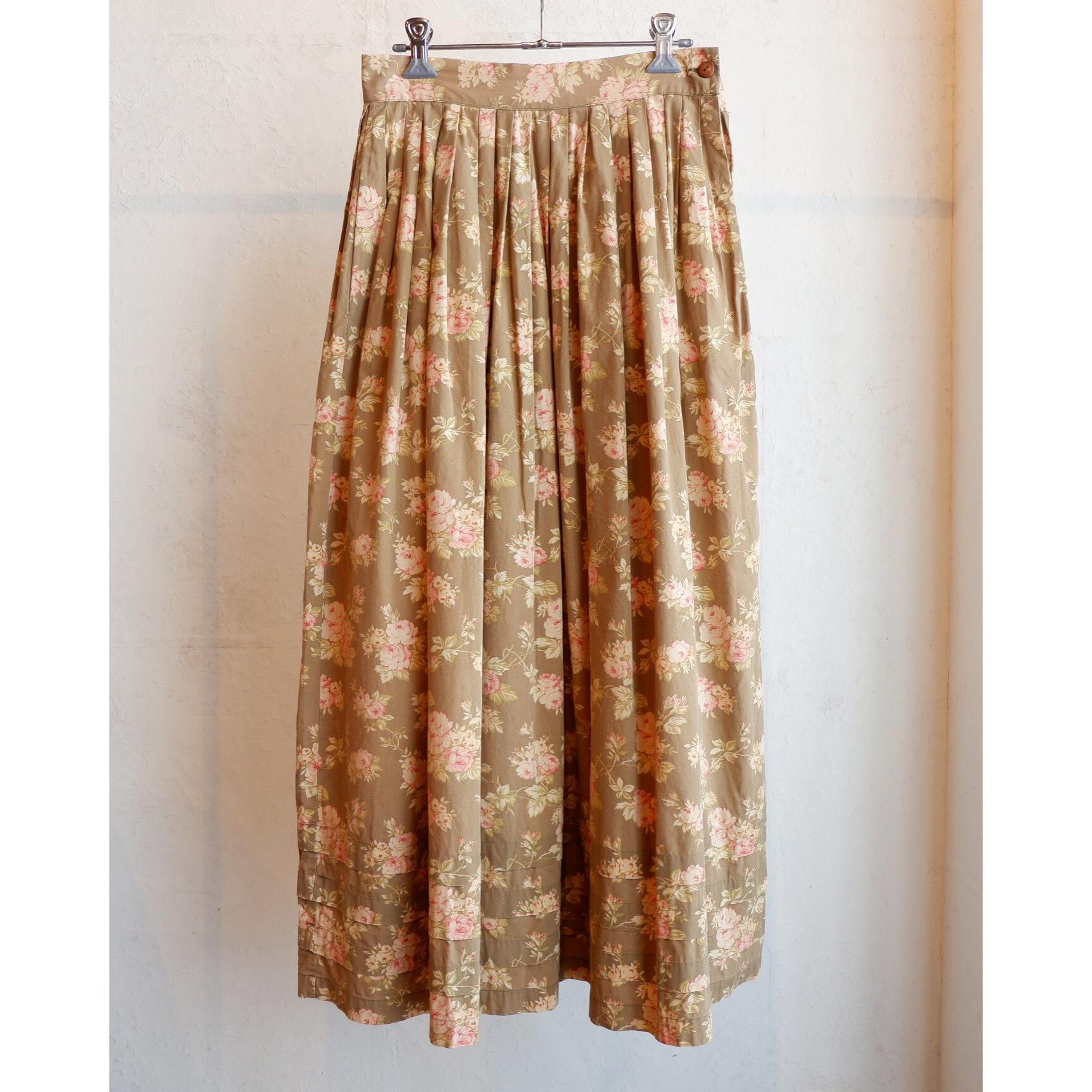 アメリカ古着 ラルフローレン ralph lauren country 花柄 スカート