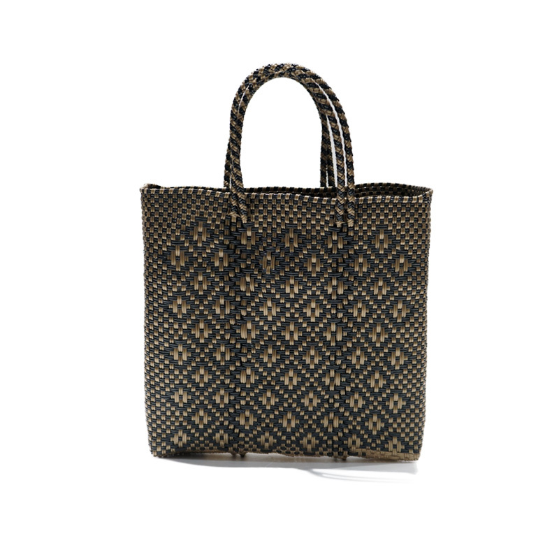 MERCADO BAG ROMBO - Black x Gold(S)