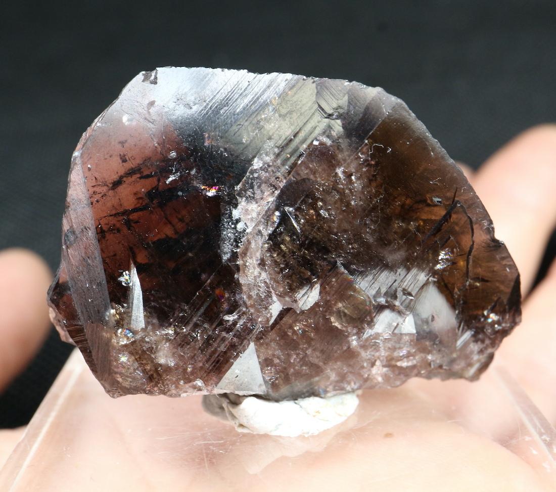 ロシア産 アキシナイト Axinite-Fe 30g 鉄斧石 Fer007   鉱物 原石 天然石 パワーストーン