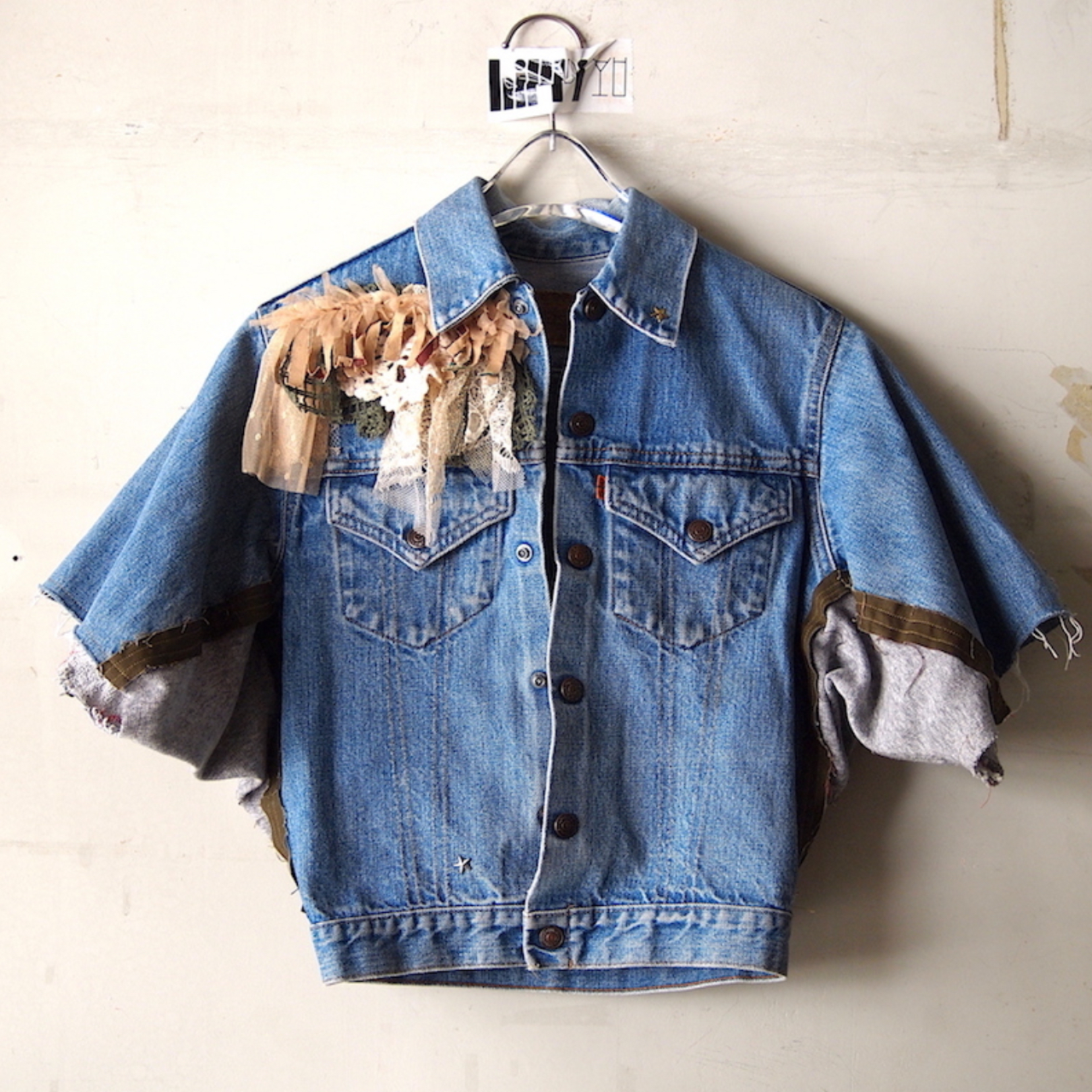 【sandglass】dolman denim short jacket/【サンドグラス】ドルマン デニム ショート ジャケット