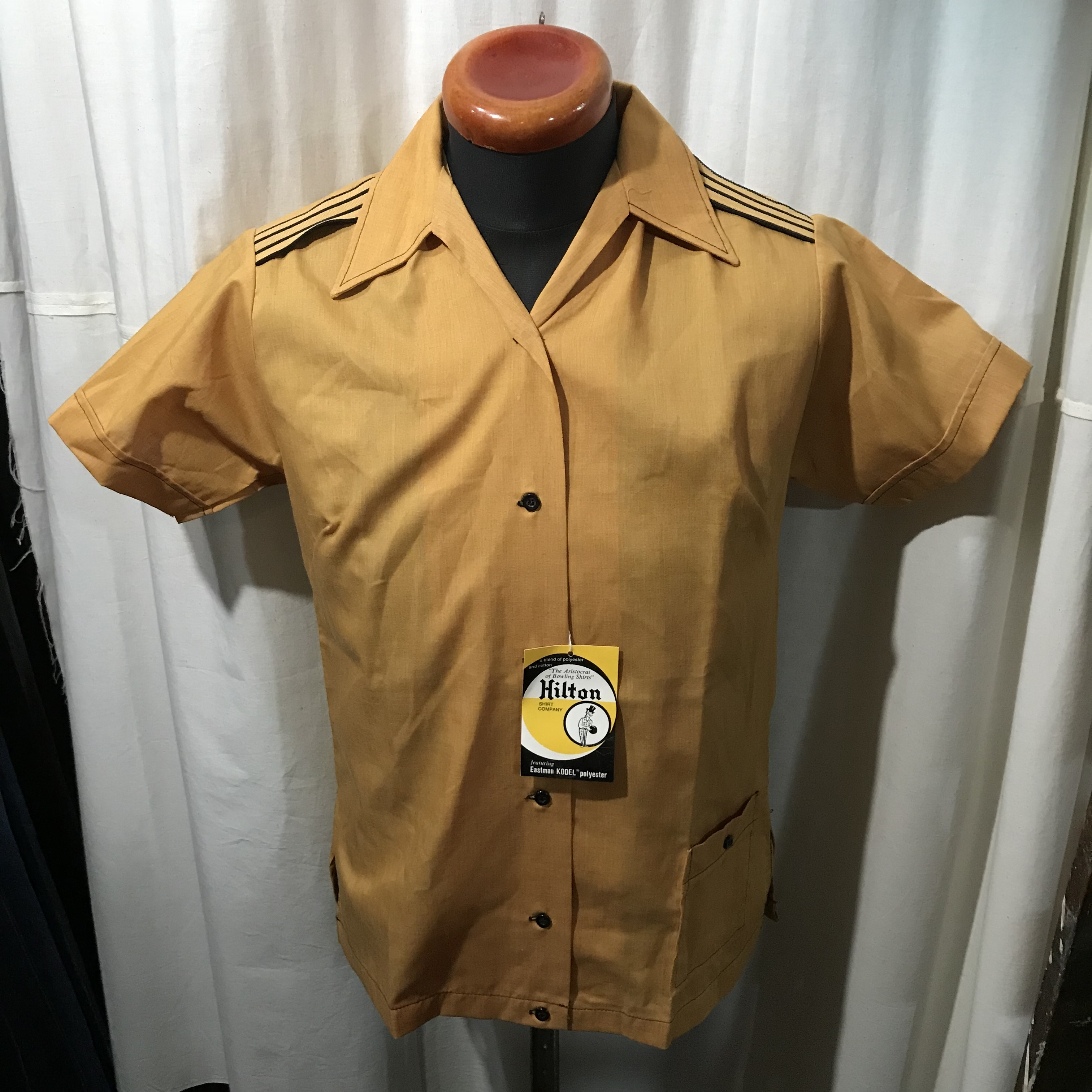 70's vintage Dead Stock Hilton ヒルトン 未使用品 ボウリングシャツ レディース34