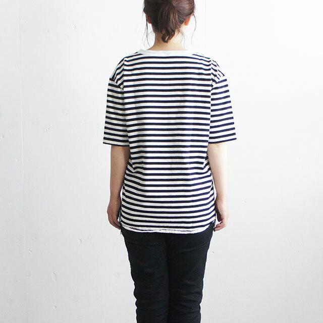 have a good day ハブアグッドデイ ボーダールーズTシャツ White/Black (品番hgd-036b)