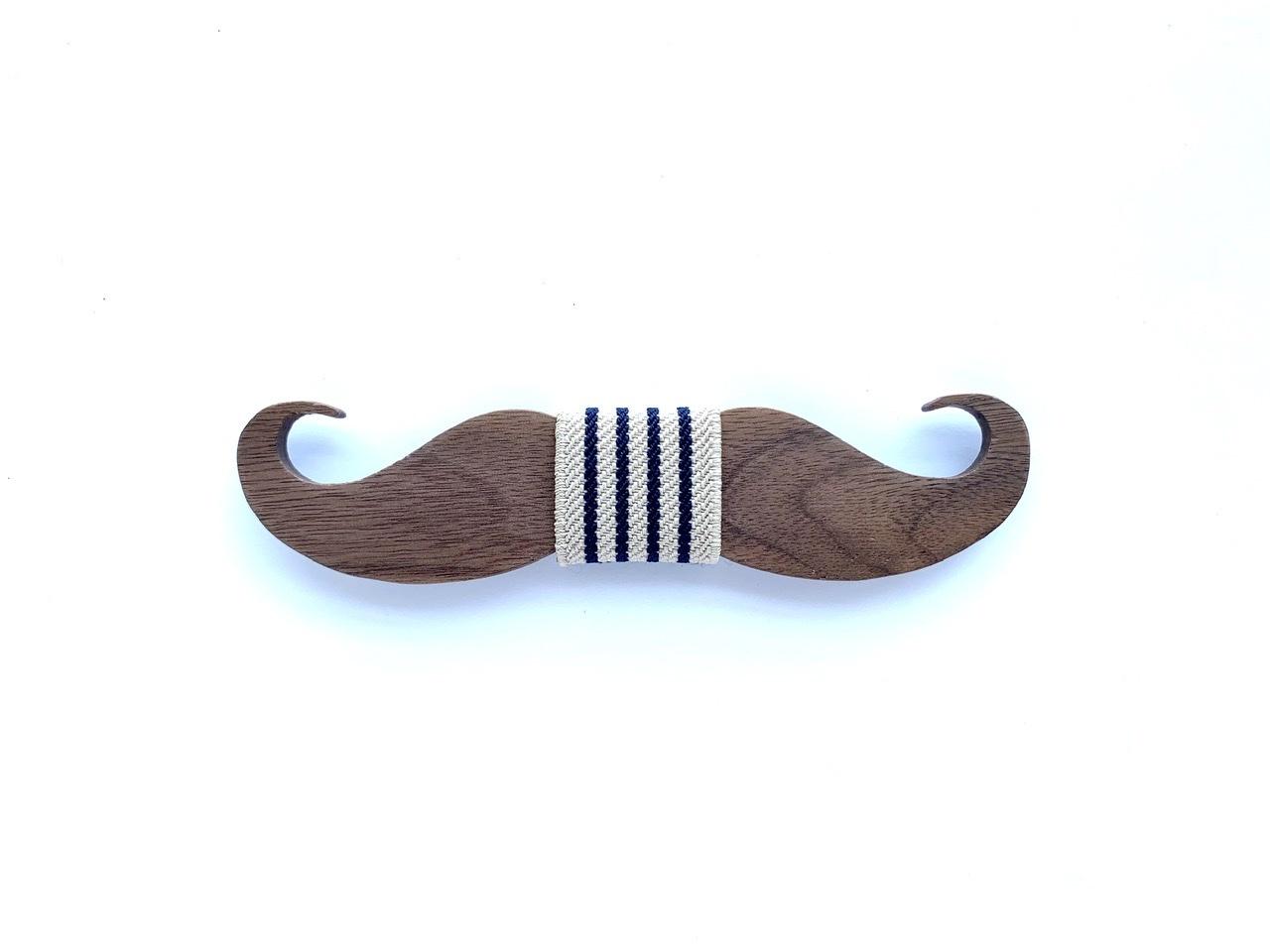 木製 蝶ネクタイ #Cafe Mustache - 画像2