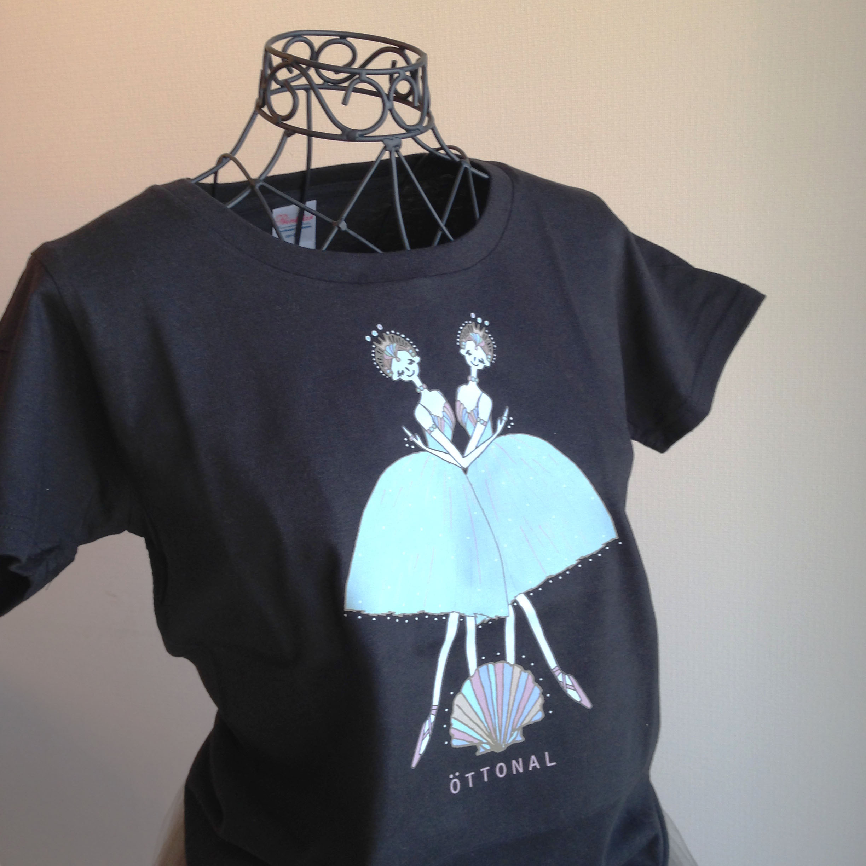 海と真珠 Tシャツ(レディース) - 画像1
